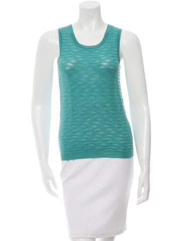 M Missoni Wool Sleeveless Top None