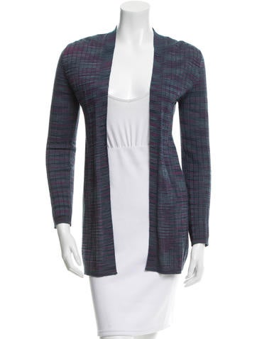 M Missoni Knit Open Front Cardigan None