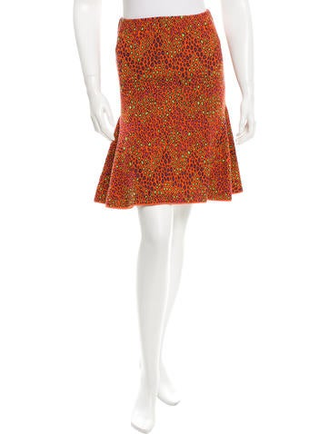 M Missoni Leopard Print A-line Skirt None