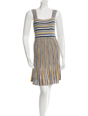 M Missoni Rib Knit Knee-Length Dress None