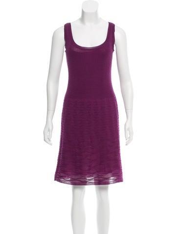 M Missoni Textured Wool Dress None