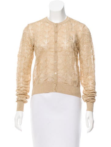 M Missoni Metallic Rib Knit Cardigan None