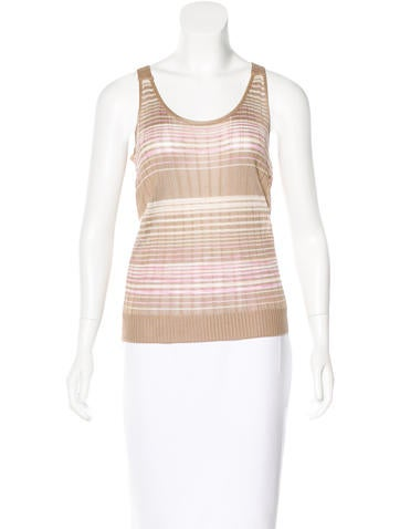 M Missoni Striped Knit Top None
