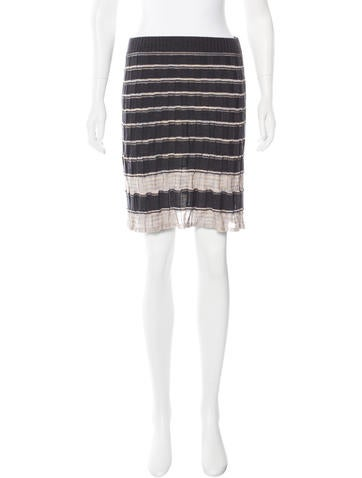 M Missoni Wool-Blend Patterned Skirt None