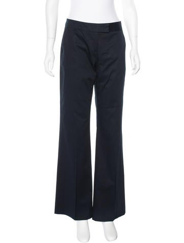 M Missoni Flat Front Wide-Leg Trousers None