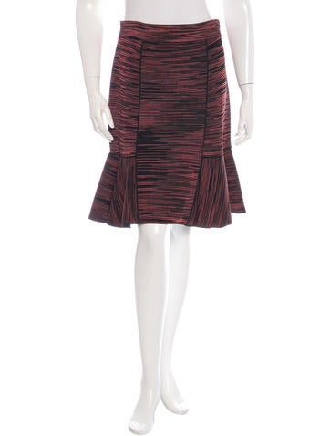 M Missoni Ruffle-Accent Knit Skirt None