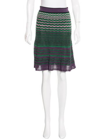 M Missoni Signature Knit Skirt None