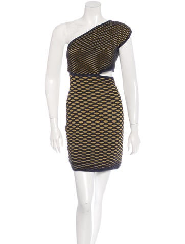 M Missoni One-Shoulder Metallic Dress w/ Tags None