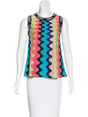 M Missoni Sleeveless Knit Sweater None