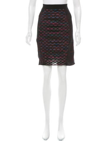 M Missoni Elasticized Patterned Knit Skirt w/ Tags None