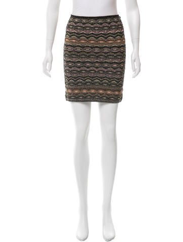 M Missoni Metallic Mini Skirt None