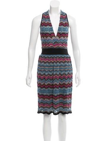 M Missoni Chevron Knit Midi Dress None