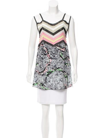 M Missoni Silk Printed Tunic None