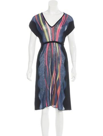 M Missoni Striped Midi Dress None