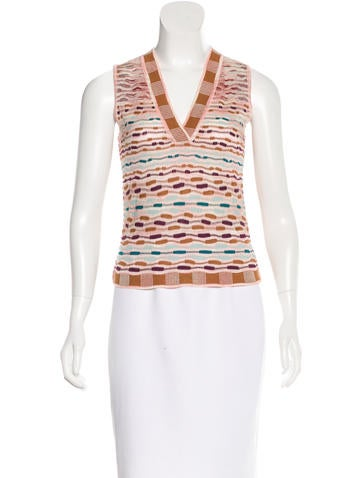 M Missoni Textured Knit Top w/ Tags None