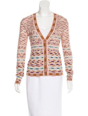 M Missoni Textured Button-Up Cardigan None