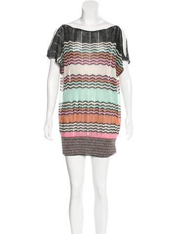 M Missoni Metallic Sweater Dress None