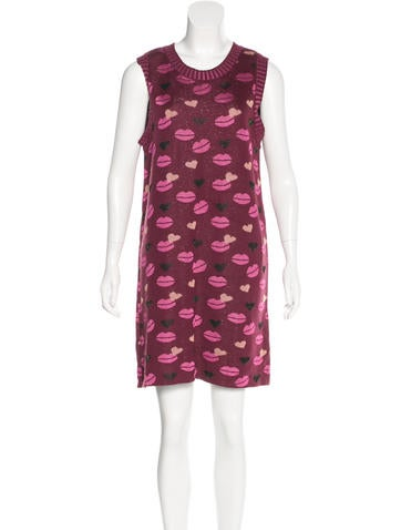 M Missoni Intarsia Mini Dress None