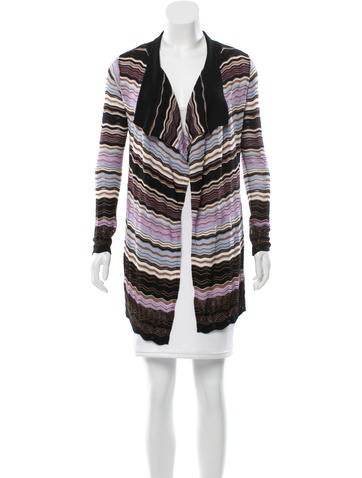 M Missoni Wool Patterned Cardigan None