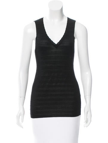 M Missoni Sleeveless Knit Top None