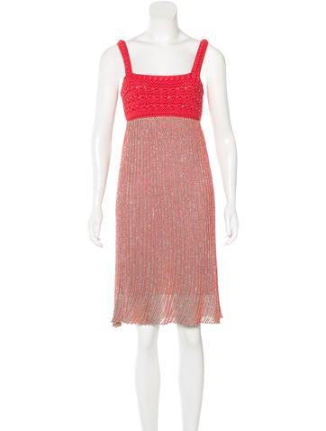 M Missoni Sleeveless Metallic Dress None