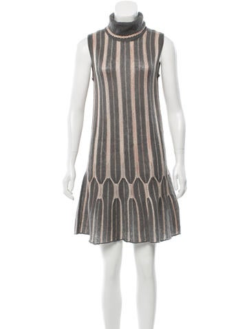 M Missoni Metallic-Accented Sweater Dress None
