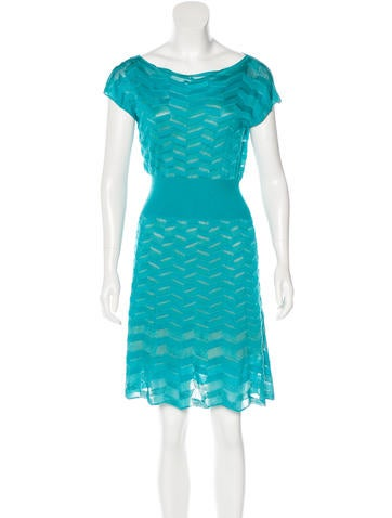 M Missoni Rib Knit A-Line Dress None