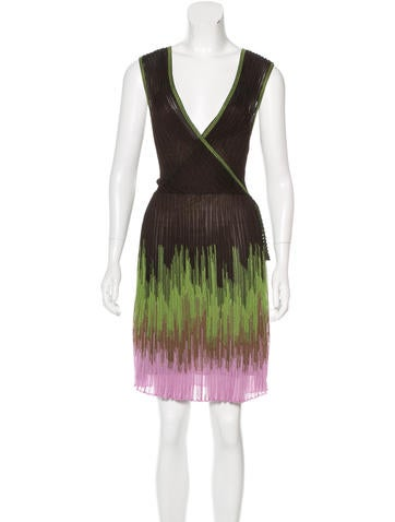 M Missoni Sleeveless Rib Knit Dress None