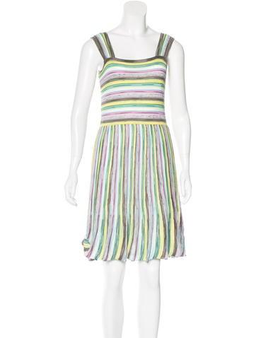 M Missoni Striped Sleeveless Dress None