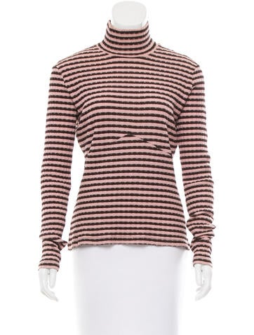 M Missoni Wool-Blend Turtleneck Top None