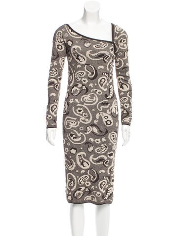 M Missoni Paisley Patterned Sheath Dress None