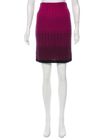 M Missoni Ombré Wool Skirt w/ Tags None