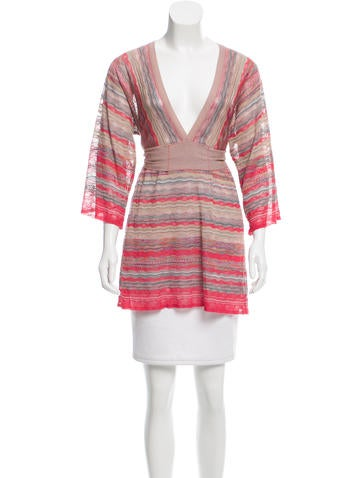 M Missoni Patterned Knit Tunic None