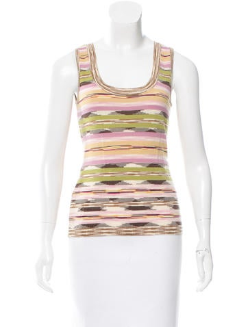 M Missoni Wool Space-Dyed Top None