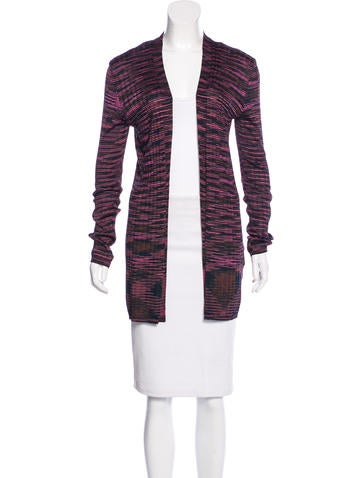 M Missoni Open Front Striped Cardigan None