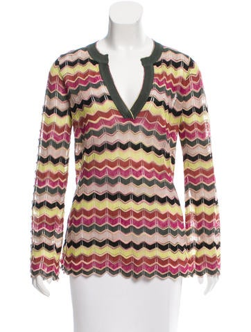 M Missoni Patterned Long Sleeve Top None