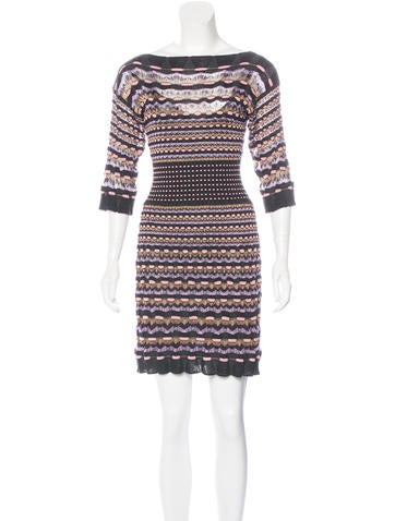 M Missoni Knit Bodycon Dress None