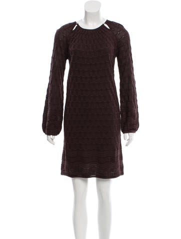 M Missoni Embellished Cutout Dress None