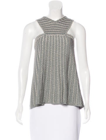 M Missoni Metallic Sleeveless Top None