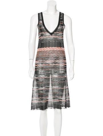 M Missoni Striped Knit Dress None