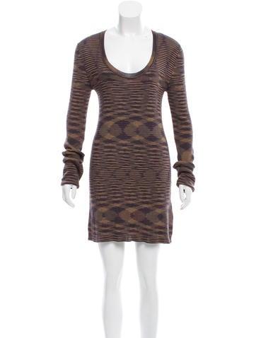 M Missoni Striped Sweater Dress None