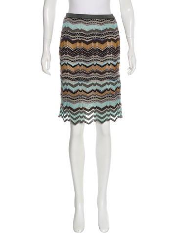 M Missoni Knit Pencil Skirt w/ Tags None