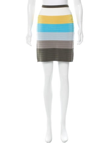 M Missoni Striped Bandage Skirt None