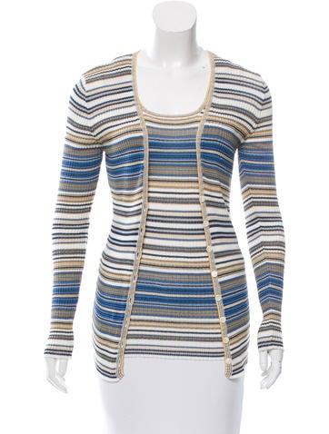 M Missoni Striped Cardigan Set None