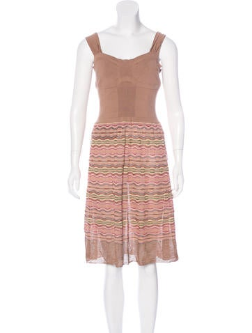 M Missoni Striped Knit Dress None