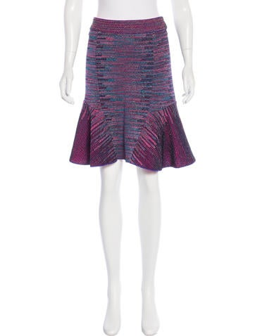 M Missoni Metallic Knee-Length Skirt w/ Tags None