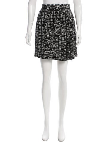 M Missoni Geometric Patterned Pleated Skirt w/ Tags None