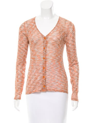 M Missoni Knit Button-Up Top None