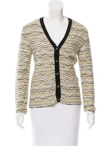 M Missoni Patterned Long Sleeve Cardigan None