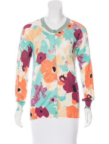 M Missoni Silk Floral Cardigan None